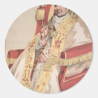 Sovereigns No.60 Caricature of Pope Pius IX Round Sticker