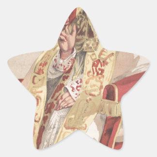 Sovereigns No.60 Caricature of Pope Pius IX Star Sticker
