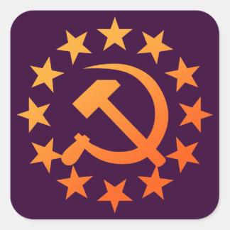 Soviet 3 square sticker