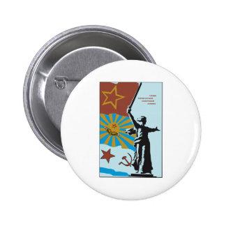Soviet 6 Cm Round Badge