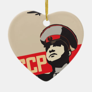 SOVIET AIR FORCE RED ARMY CERAMIC HEART DECORATION