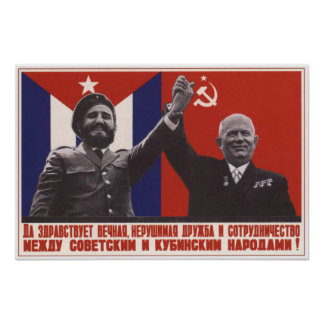 Soviet and Cuban Friendship Poster
