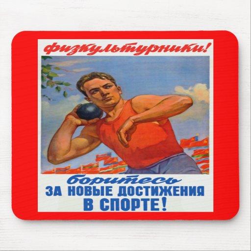 Soviet Athletic Propaganda Mousepad