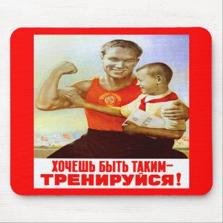 Soviet Exercise Propaganda Mousepads