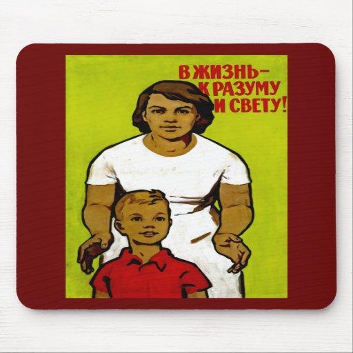 Soviet Family Propaganda Mousepad
