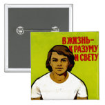 Soviet Family Propaganda Pinback Buttons