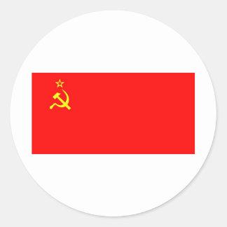 soviet flag classic round sticker