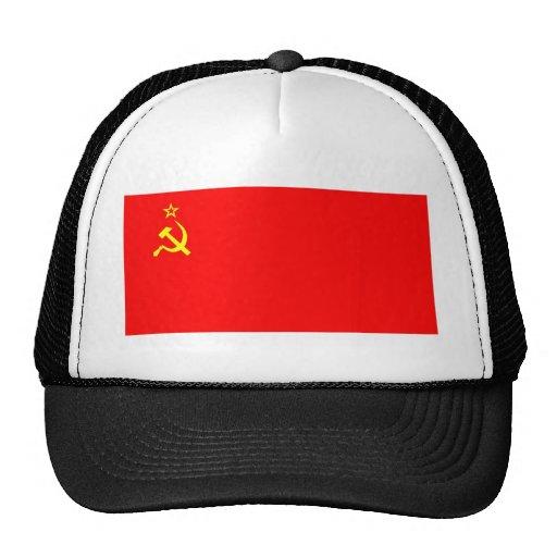 soviet flag trucker hats