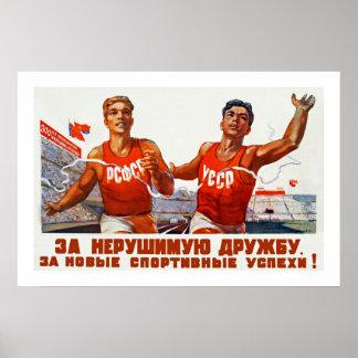 Soviet Friendship and Sport Poster