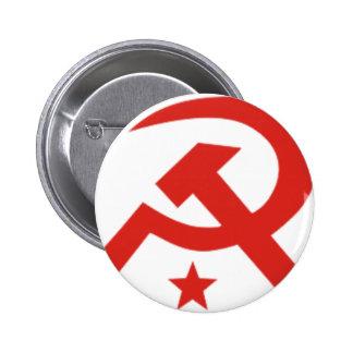 Soviet hammer and sickle design 6 cm round badge