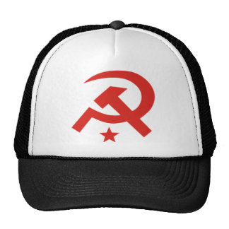 Soviet hammer and sickle design trucker hat