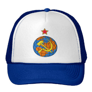 Soviet Hammer & Sickle and Earth Cap