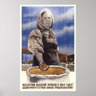 Soviet Kolkhoz propaganda poster 1944