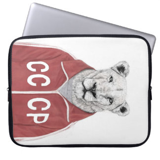 Soviet lion laptop sleeve