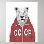 Soviet lion poster