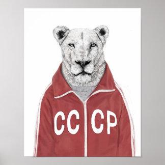 Soviet lion print