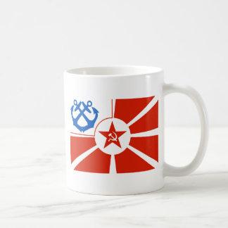 Soviet Navel Flag Basic White Mug