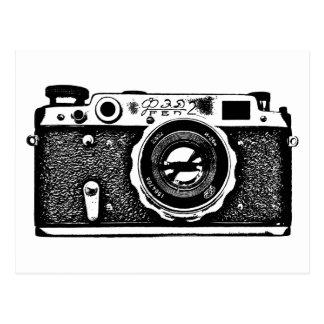 Soviet Russian Camera - Black Postcard