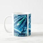 Soviet Space Dog Basic White Mug