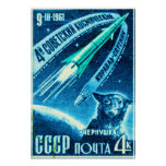 Soviet Space Dog Posters