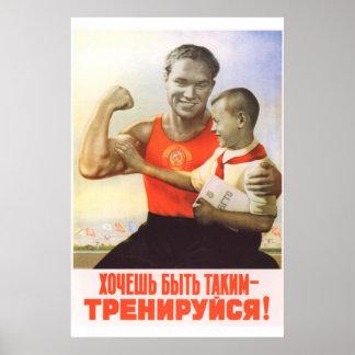 Soviet Sport Poster