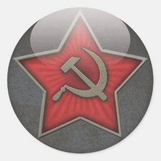 Soviet Star Hammer and Sickle Classic Round Sticker
