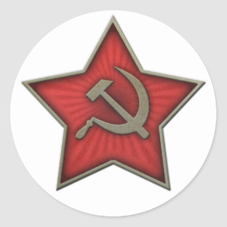 Soviet Star Hammer and Sickle Communist Classic Round Sticker