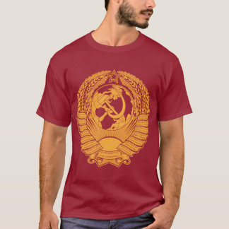Soviet Union Coat of Arms Wreath Vintage Russian T-Shirt