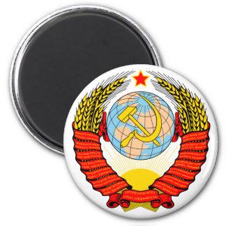 Soviet Union Emblem 6 Cm Round Magnet