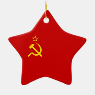 Soviet Union Flag Christmas Ornament