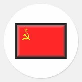 Soviet Union Flag Classic Round Sticker