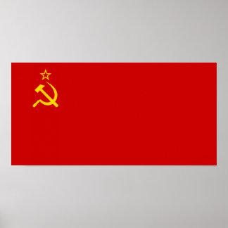 Soviet Union Flag Print