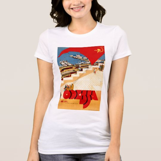 Soviet Union Odessa Vintage Travel Poster Restored T-Shirt