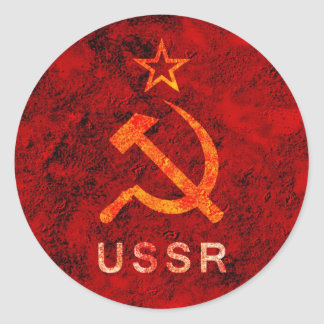 Soviet Union Round Sticker