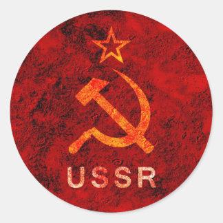 Soviet Union Round Sticker