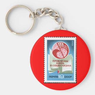 Soviet_Union_stamp_1988_CPA_5985 Basic Round Button Key Ring