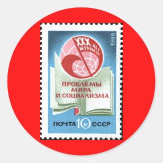 Soviet_Union_stamp_1988_CPA_5985 Round Sticker