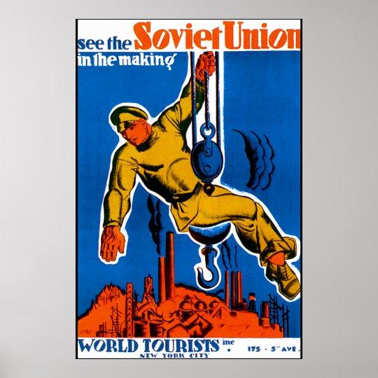 Soviet Union Travel Poster
