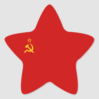 Soviet Union/USSR/CCCP Flag Star Sticker