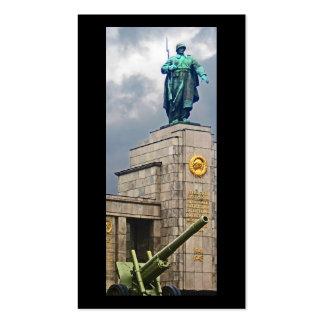 Soviet War Memorial, Berlin, Soldier and Gun Business Card