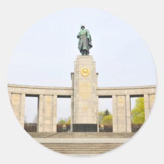 Soviet War Memorial in Berlin, Germany Classic Round Sticker