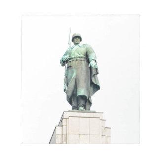 Soviet War Memorial in Berlin, Germany Notepad