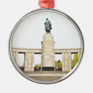 Soviet War Memorial in Berlin, Germany Silver-Colored Round Decoration