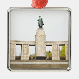 Soviet War Memorial in Berlin, Germany Silver-Colored Square Decoration