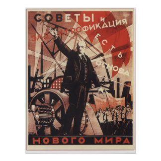 Soviets and Electricity Poster