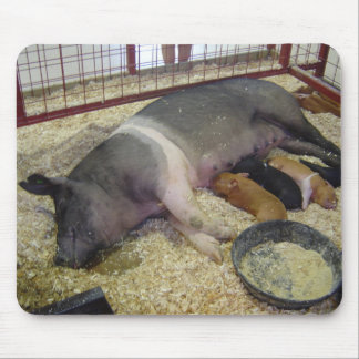 Sow and Piglets Mousepad