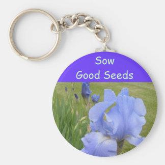 Sow Good Seeds keychain