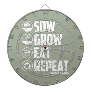 Sow, Grow, Eat, Repeat (White) Dartboard