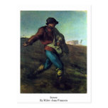 Sower By Millet (Ii), Jean-Francois Post Card