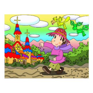 Sowing seeds postcard